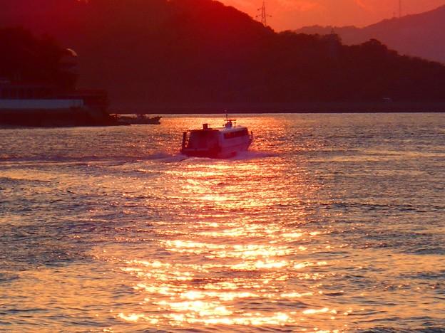 瀬戸田港へ向かう高速艇シトラス号