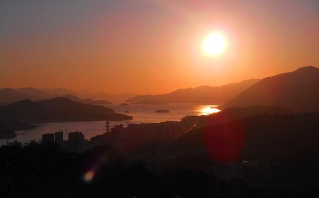 大寒過ぎの夕陽