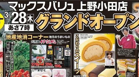マックスバリュ上野小田店 2013年3月28日(木) オープン -250327-tirashi-1