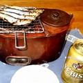 Photos: 燗銅壺 メザシとビール