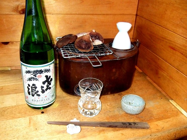 「琵琶のささ浪」純米酒 アザミグラス Samurai Sake warmer