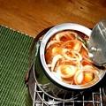 ?燗銅壺に缶詰 ブリのアラ炊き