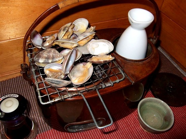燗銅壺「飛龍」 アサリで一杯