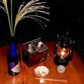 月見酒 十五夜の満月