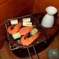 Photos: 燗銅壺 焼きエビ