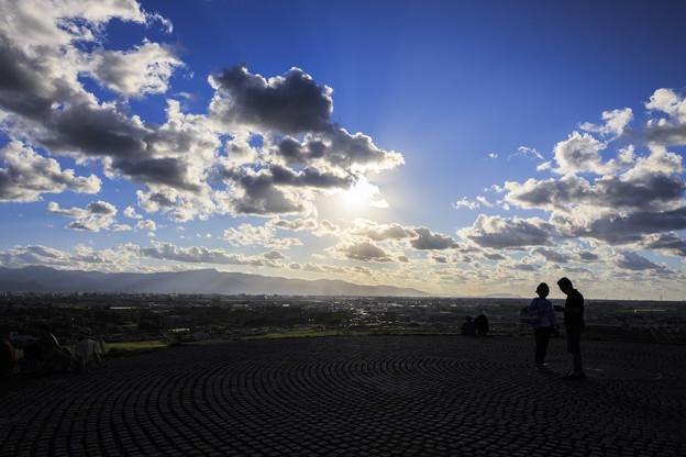 モエレ山山頂からの夕日
