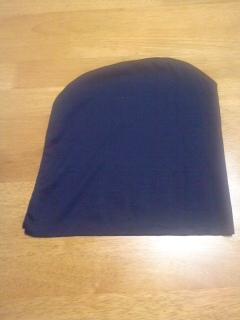 写真: 烏帽子を縫ってみました。