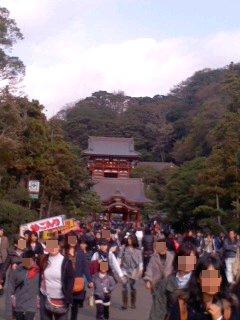 写真: 鶴岡八幡宮 境内。