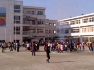 大船小学校校庭。