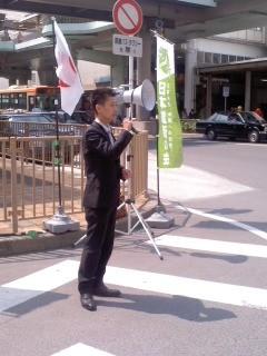 演説(神奈川12区支部長・甘粕和彦さん)。