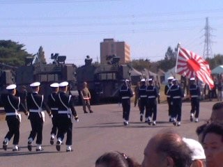 海上自衛隊行進(10月27日、観閲式)
