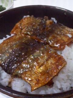 妻の秋刀魚蒲焼き丼(11月13日)