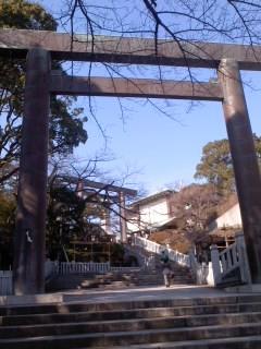 伊勢山皇太神宮境内(1月20日)