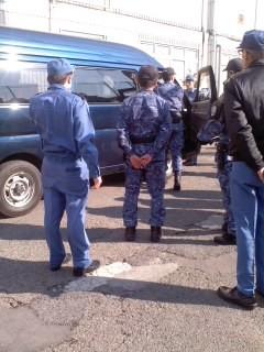車両検査訓練(1月31日、横須賀陸警隊)