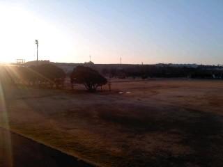 朝のグランド(1月31日、横須賀教育隊)