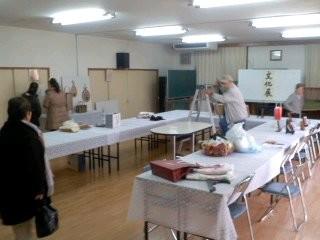大船町内会文化展準備(2月23日)