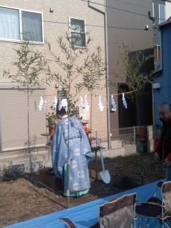 角田家地鎮祭(2月25日)