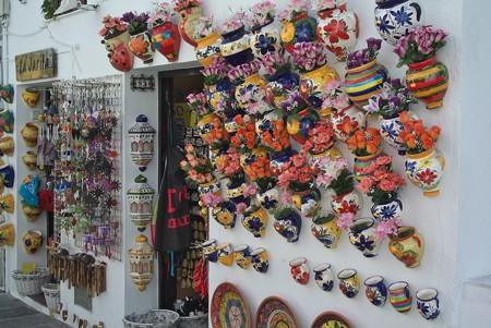 ミハス:コンパス通りの壁ディスプレイ(焼き物)
