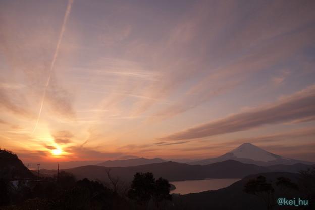 富士山と夕空