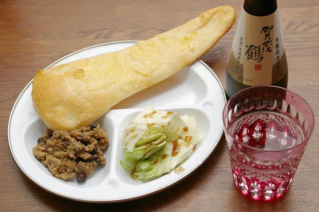 IMGP9590東広島市、賀茂鶴本醸造爽快辛口とダルカレー