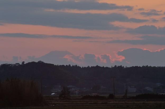 印旛沼8-富士山と夕暮れ2