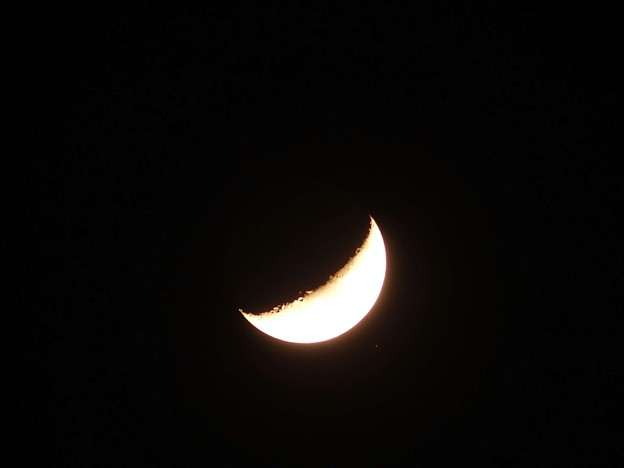 20140405-月の脇の星の輝き