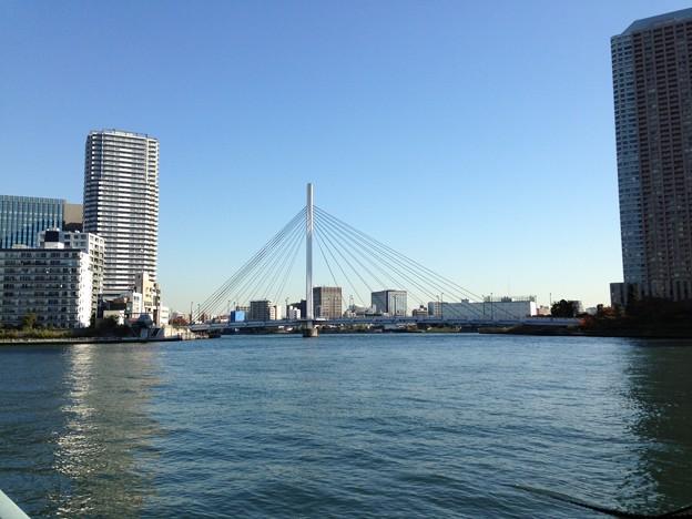 中央大橋(隅田川テラス、中央区湊より)