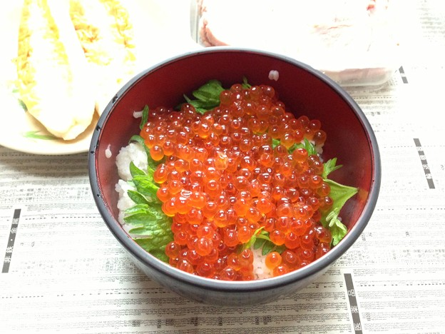 いくら丼(((o(*゜▽゜*)o)))