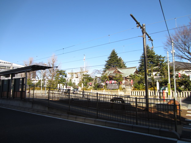 尾久八幡神社・都電荒川線宮ノ前駅