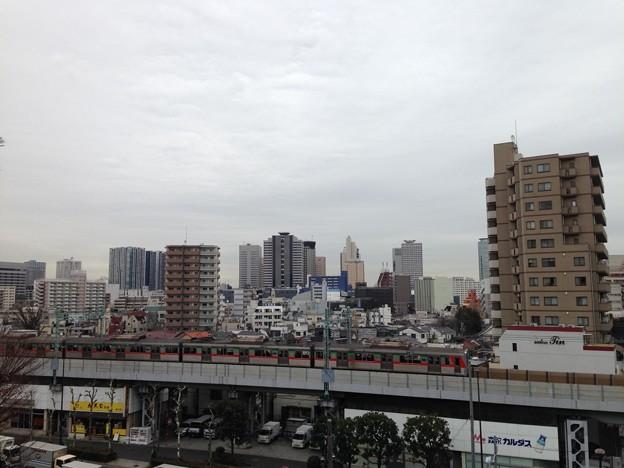 品川神社富士塚――より東。