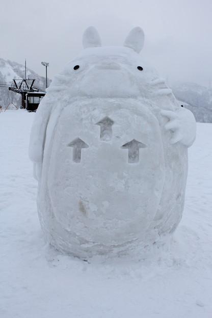 トトロの雪像