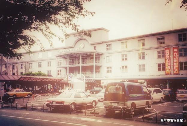 かつての熊本駅前広場の様子。