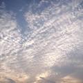 写真: 暮れゆく秋の空