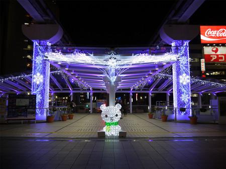 小倉駅のクリスマスイルミ2013