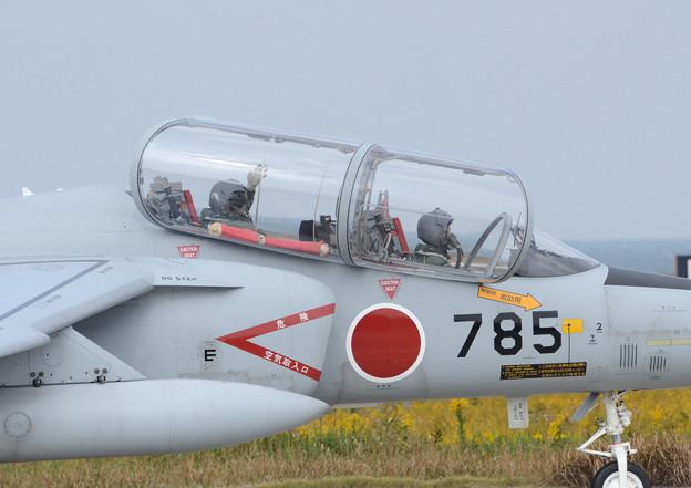 築城基地 訓練飛行 T-4 手を振ってくれました!