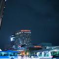 夜の金沢駅前