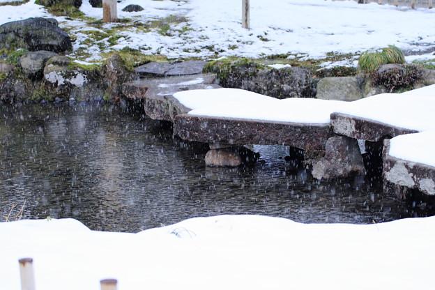 雁行橋  雪が降る
