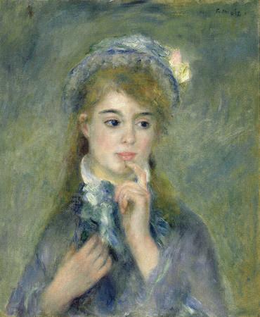 オーギュスト・ルノワール 若い娘の肖像