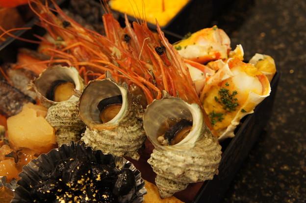 写真: 海老、蟹、貝