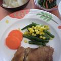 Photos: 鶏照り&菜の花ソテー