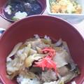 Photos: 豚丼&卵サラダ