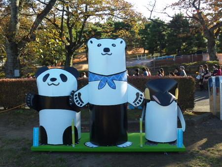 生シロクマ君、パンダ君そしてペンギンさん♪