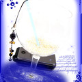 ∵くるくるくるりん渦巻き銀河のストラップ ブルーサンドストーン(紫金石) 手作り ハンドメイド ワイヤーワーク(ワイヤーアート)グルグルうずまきストラップ3