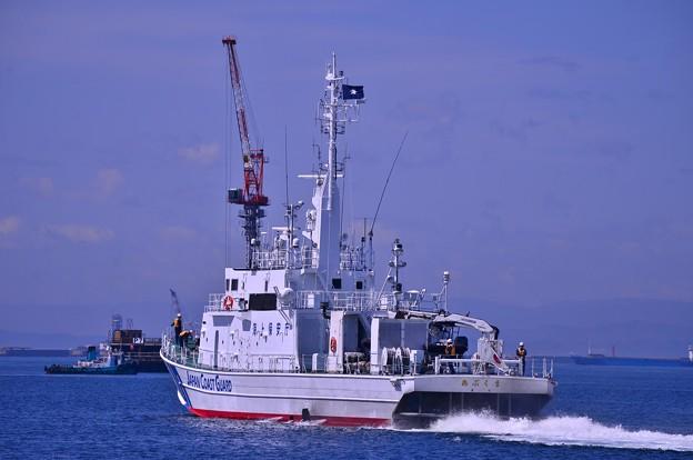 小名浜港を出発した海上保安庁巡視船あぶくま・・20130512
