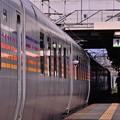 南千歳駅を出発するカシオペア。。明日には上野