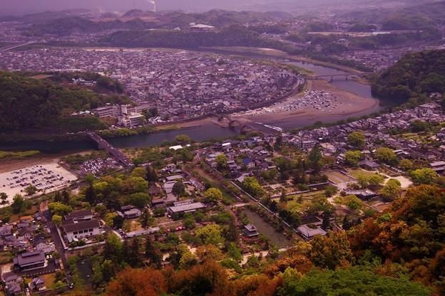 岩国城から見た岩国の街・・・