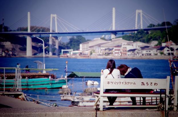 夕方の尾道の港風景・・20130505