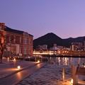 ライトアップされて綺麗な町・・門司港