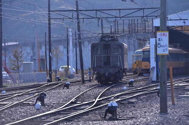 SLと牽引する電気機関車E102系大井川鉄道オリジナル車・・20131123