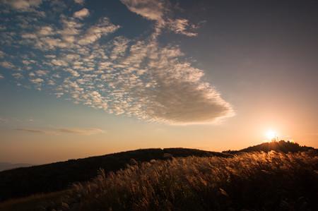 生石高原の夕焼け・2